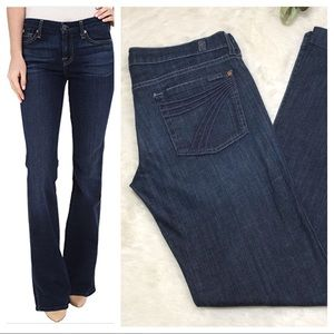 7 FOR ALL MANKIND Dojo Wide Leg Jeans 32 x 35